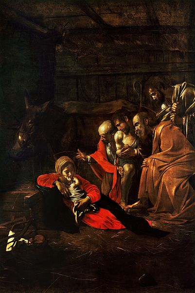 401px-Adoration_of_the_Shepherds-Caravaggio_(1609)