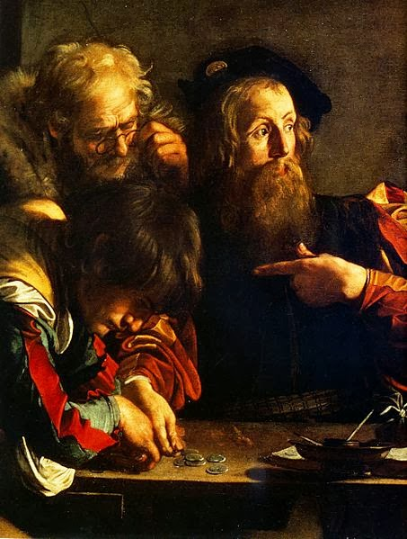 Calling of St. Matthew (detail - Matthew)
