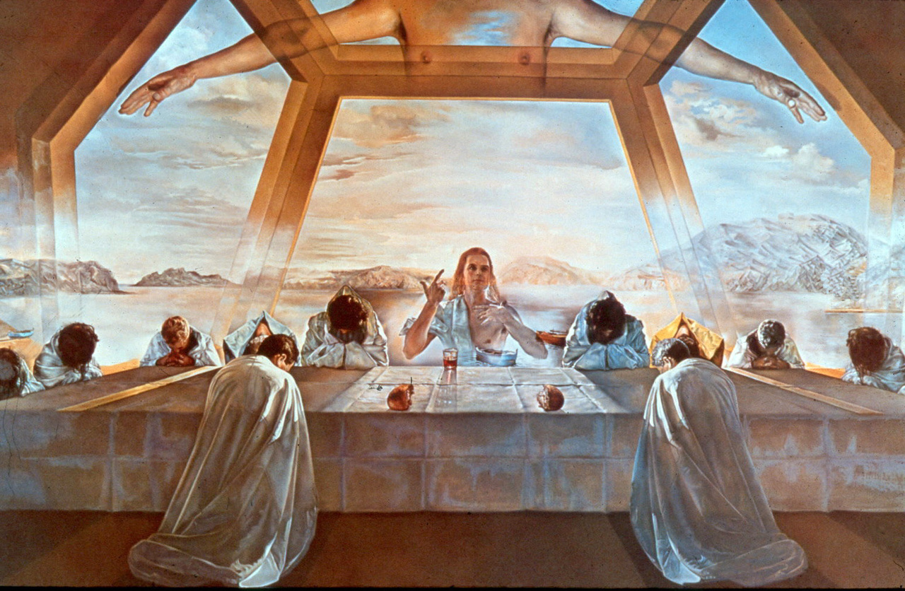 Hundreds More Last Supper Images Fill The Pages Of Art History Books Many Adhered To Leonardos Format In 1955 Dali Painted Above A